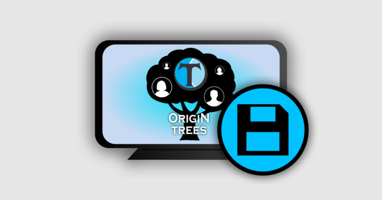 origin trees how to save